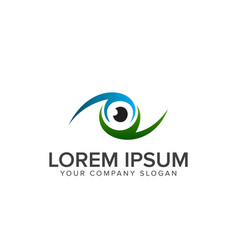 eye logo design concept template vector image