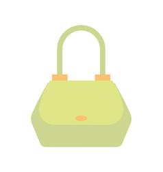 female handbag of green color vector image