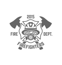 Fire department monochrome emblem vector