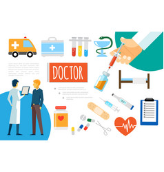 flat medical care composition vector image