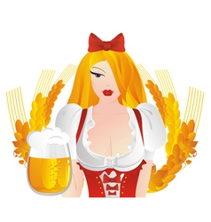 german dress with beer mugs vector image