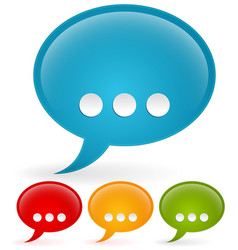gloss speech bubbles with ellipsis vector image