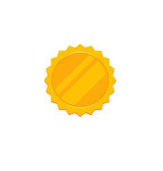 gold rosette icon flat cartoon golden vector image