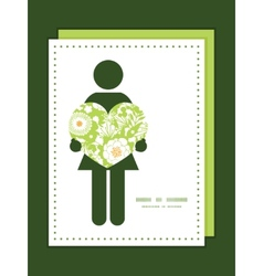 Green and golden garden silhouettes woman vector