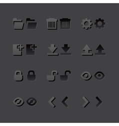 Grey web app graphic editor tools icons in 2 vector