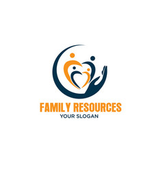 hands care family care logo designs modern vector image