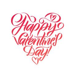 happy valentines day handwritten romantic vector image