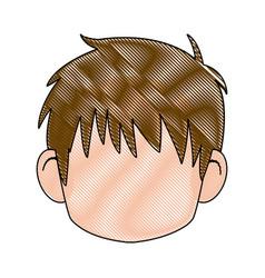 Head boy anime avatar image vector