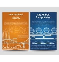 Industrial brochure flyers template vector image