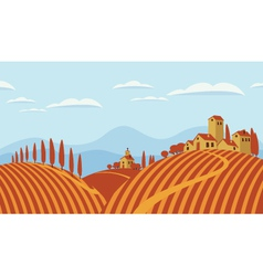 Italian countryside vector