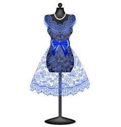 lace dress on mannequin vector image
