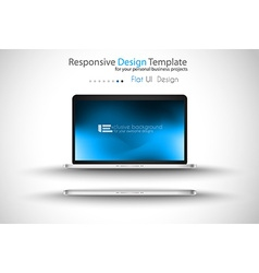 Modern laptop - open and close version with vector image