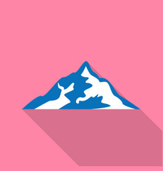 mountain shape icon flat style vector image
