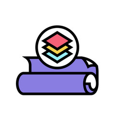 Multilayer fabric color icon vector