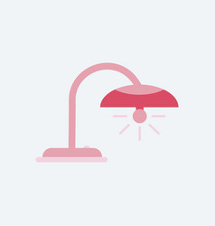 Office table lamp icon flat of table lamp vector