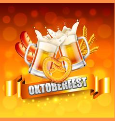 Oktoberfest poster concept photo realistic vector