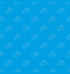 photo camera with lens pattern seamless vector image