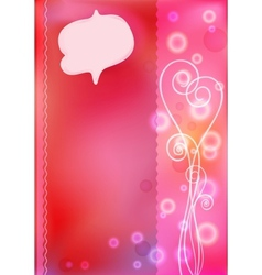 Pink greeting cards for Valentines day vector image