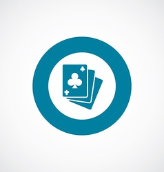 poker icon bold blue circle border vector image