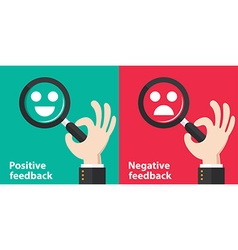 Positive and negative feedback vector image