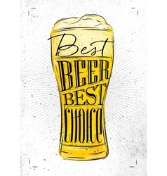 Poster best beer vector