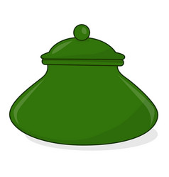 Pot isolated vector