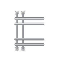 realistic heated towel rail or heating battery vector image