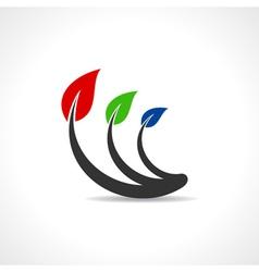 RGB leaf icon Design vector