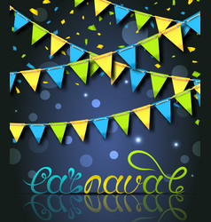 Rio carnival festive postcard with bunting vector