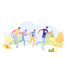 run tournament for people with limited mobility vector image