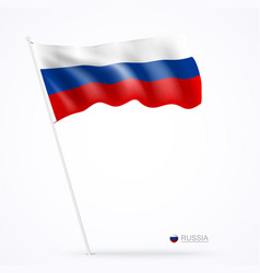 russian flags design banner background vector image