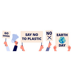 save environment earth day go green and eco vector image