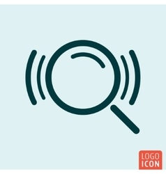 Search loupe icon vector