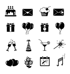 Set celebratory icons symbols vector