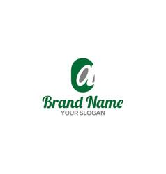 Simple ca logo design vector