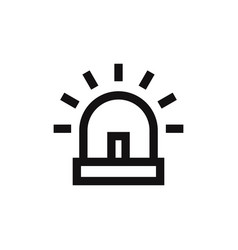 siren icon vector image