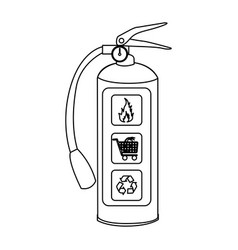 sketch silhouette fire extinguisher icon vector image