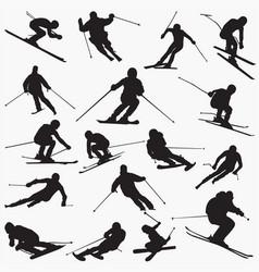 ski new silhouettes vector image