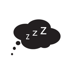 sleep icon on white background sleep sign vector image vector image