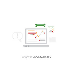 software development computer programming concept vector image