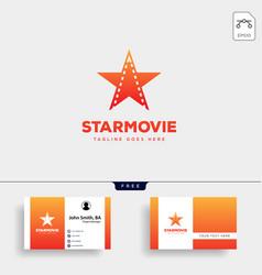 star movie cinema simple logo template icon vector image