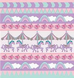 Sweet pastel pattern vector