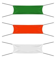 Textile strips set vector