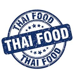 Thai food blue grunge round vintage rubber stamp vector