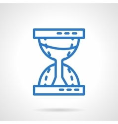 Time concept Sandglass blue line icon vector image