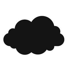 Wavy cloud icon simple style vector