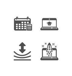 Website education resilience and calendar icons vector