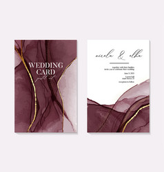 wedding burgundy watercolor shapes dark red vector image