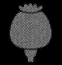 White dot opium poppy icon vector