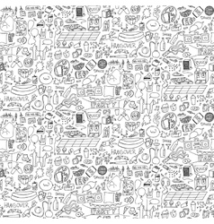 Adult Party Doodle Seamless Pattern vector image vector image